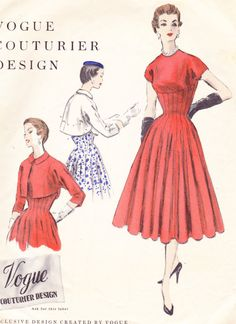 1950s Vintage Womens Sewing Pattern Flared by Sutlerssundries, $75.00