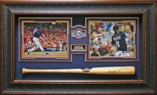 Ryan Braun Signed Bat Framed Display