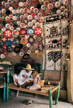 Steve McCurry Photo--Love the plates to the ceiling!