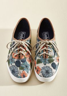 newest 2d201 20468  Shoes shoes  Flat sandals Stylish Shoes Ideas Keds Outfit, Floral Sneakers,  Keds