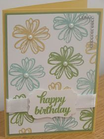 CraftyCarolineCreates: One Sheet Wonder Cards - Subtle Colours with Flower Shop by Stampin' Up