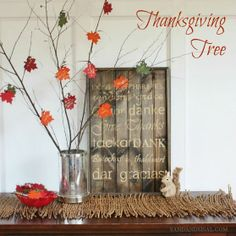 Thanksgiving Tree, doing this with my kids.