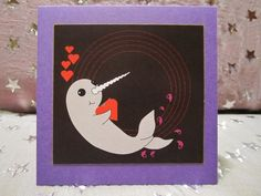 Narwhal Valentine's Narwhaltine's cards by NarwhalsDesk on Etsy