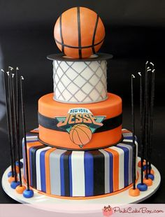 Basketball Bar Mitzvah Cake