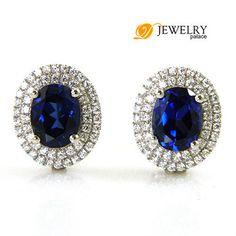 encanto de hadas silm joyas lindo para que coincidan con parejas de la boda pendientes de zafiro regalo stud 925 el envío libre de la plata $13.67 aretes - yyw