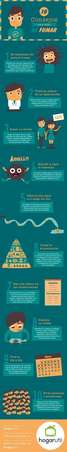#infografia 10 consejos para dejar de fumar by @ainaragm
