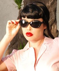 "Retro Sunglasses - ""Audrey"" Rockabilly Sunglasses..."