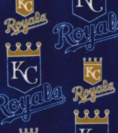 "Kansas City Royals Fleece Fabric 58"" - Logo"