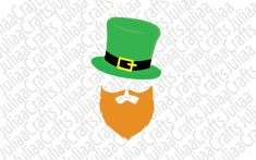 St patricks day svg - Shamrock svg - St patrick svg - Irish svg - Irish beard svg - svg cut files - for cricut - for silhouette St Pattys, St Patricks Day, Silhouette Vector, All Design, Irish, Cricut, Messages, This Or That Questions, Shop