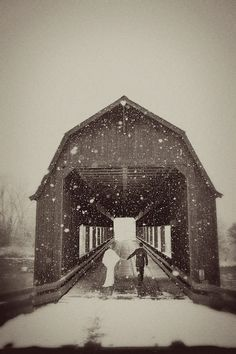magical.  There is a barn/bridge just like this at a church camp I went to as a child.   Memories.