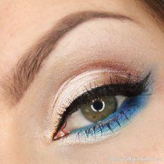 """Heaven"" by dzastina252 using the Makeup Geek Brown Sugar, Neptune, Pooliside, and Shimma Shimma eyeshadows."