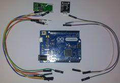 Basado en Arduino Leonardo, sensor de temperatura ds18b20 y transceptor NRF24L01