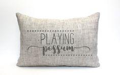 playing possum pillow rustic pillow farmhouse pillow