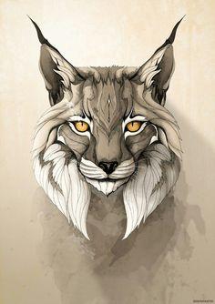 Love face shape for Lynx. Lynx Art Print by Rafapasta Animal Drawings, Art Drawings, Pencil Drawings, Wild Animals Drawing, Draw Animals, Nature Animals, Pencil Art, Painting & Drawing, Iberian Lynx