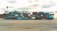 Leaseway 13-car load GM compacts by PAcarhauler, via Flickr