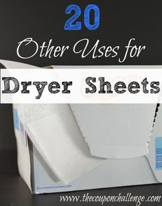 Dryer sheets aren't just for laundry. Save money and get creative with these 20 Other Uses for Dryer Sheets. might surprise you! Household Cleaning Tips, Diy Cleaning Products, Cleaning Solutions, Cleaning Hacks, Laundry Humor, Laundry Hacks, Uses For Dryer Sheets, Think Sheet, Reading Task Cards