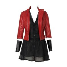 Avengers Age of Ultron Wanda Maximoff Scarlet Witch Cosplay Costume... (3,900 THB) ❤ liked on Polyvore featuring costumes, dresses, cosplay, halloween, outfit, cosplay costumes, witch costume, cosplay halloween costumes, salem witch costume and role play costumes