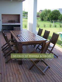 mesa guayubira para jardin