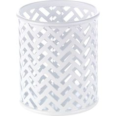 Staples® White Zigzag Pencil Cup (26847) | Staples