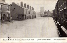 flood in queen victoria road Photographs And Memories, Coventry, Street View, Queen Victoria, History, Travel, Pictures, Vintage, Photos