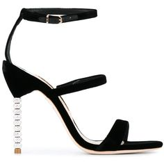 Sophia Webster 'Rosalind' sandals (1.605 BRL) ❤ liked on Polyvore featuring shoes, sandals, black, sophia webster shoes, black sandals, sophia webster, kohl shoes and black shoes