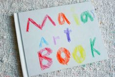 A child's art book created with a blank book and a few simple art materials... Are your kids inspired by blank books?