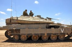 Merkava Mk 4 - view on the side of the vehicle.