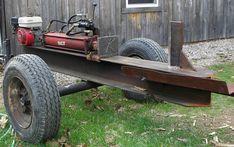 Custom Woodsplitter, by L. Welding Jobs, Arc Welding, Welding Table, Metal Projects, Welding Projects, Diy Projects, Homemade Tractor, Firewood Logs, Log Splitter