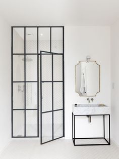 Bathroom of the Week: Steel-Frame Shower Doors in a Fanciful London Project