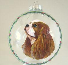 Christmas Ornament Pet Portrait Cavalier King Charles by petzoup, $27.50