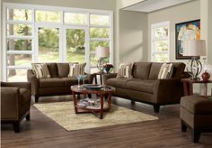 Cindy Crawford Home Newport Cove Espresso 7 Pc Living Room. $1,645.00. Find affordable Living Room Sets for your home that will complement the rest of your furniture.
