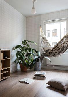 Amaca interno per leggere libri e per relax