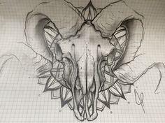 Alexbreak : ornemental aries skull