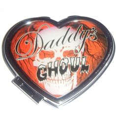 Kreepsville 666 Daddy's Ghoul Heart Compact Mirror ($8.95) ❤ liked on Polyvore featuring beauty products, beauty accessories and kreepsville 666