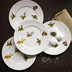 Flora + Fauna Dessert Plates, Bees #WestElm