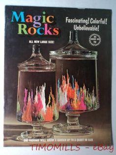 1975 Magic Rocks Science Crystal Growing Toy Kit Brochure Vintage AS SEEN ON TV!