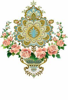 Baroque Pattern, Baroque Design, Pattern Art, Flora Flowers, Botanical Flowers, Botanical Art, Motif Design, Design Elements, Pattern Design