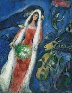 Marc Chagall La Mariee painting is shipped worldwide,including stretched canvas and framed art.This Marc Chagall La Mariee painting is available at custom size. Marc Chagall, Chagall Paintings, Chagall Prints, Art Paintings, Renoir, Cubism, French Artists, Pablo Picasso, Famous Artists