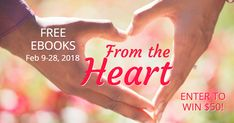 Love is in the air! Scroll down and wait for loading to see all the romantic choices here. Sign up to learn a little more about an author you are interested in and start reading. Don't forget to enter to win $50. Thank you!
