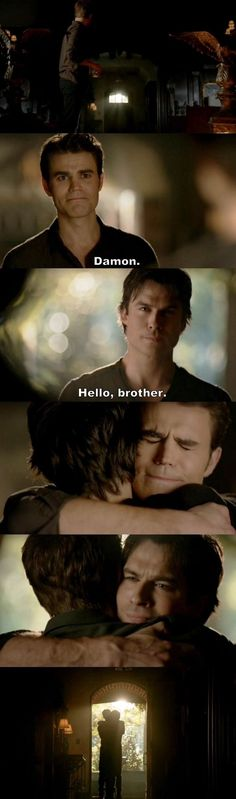 The Vampire Diaries TVD S08E16/Season finale - Damon and Stefan: