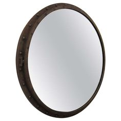 Large Porthole  Mirror | From a unique collection of antique and modern wall mirrors at http://www.1stdibs.com/furniture/mirrors/wall-mirrors/