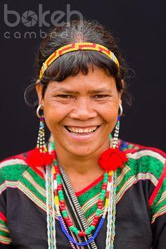 Portrait of a colorful Bunong minority woman | Mondulkiri Province, Cambodia