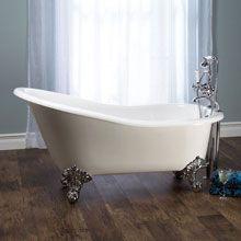 Victoria & Albert Shropshire free standing Victorian bath L: 153.7 W: 75 H: 78 cm with fee with white QUARRYCAST® Ball & Claw feet - SHR-N-SW+FT-SHR-SW