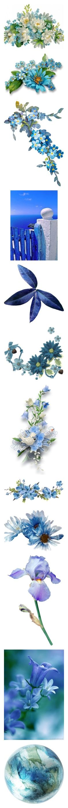 """BLUE; floral, bird. butterfly, texture, scenes, background,,,"" by judymjohnson ❤ liked on Polyvore featuring flowers, flora, easter, fillers, backgrounds, plants, effects, quotes, phrase and saying"