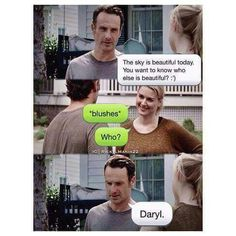 Ꭱick Ꮹrimes on Lol….The walking dead - Daryl Dixon. Walking Dead Funny, Walking Dead Cast, Fear The Walking Dead, Walking Dead Zombies, Chandler Riggs, Twd Memes, Funny Memes, Memes Humor, Funny Quotes