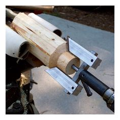 log woodworking tools