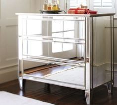 chrome nightstands | Fabulous Mirrored Furniture For a Sleek Interior