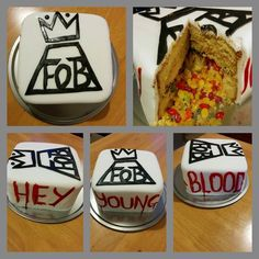 Fall out boy birthday cake, <<< OMG CAN I PLEASE HAVE THIS?!?! HOW DOES THIS EVEN EXIST?