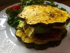 We have burger night at least once a week. Having a lettuce bun isn't that much fun. It works. But there are so many other things to use! Like this beautiful Acorn Squash. Yeah, there's going to be...
