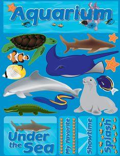 Reminisce - Signature Series Collection - 3 Dimensional Die Cut Stickers - Aquarium at Scrapbook.com